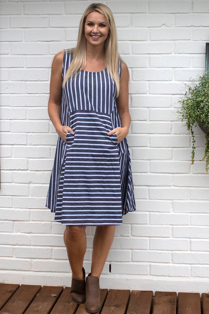 Fleetwood Dress - Rothschilds Stripe by Tulip Clothing