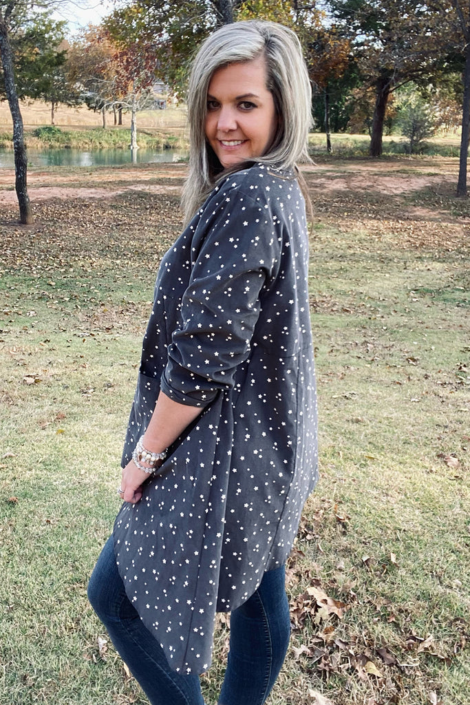 Grace Tunic - Charcoal by Apparel Garden