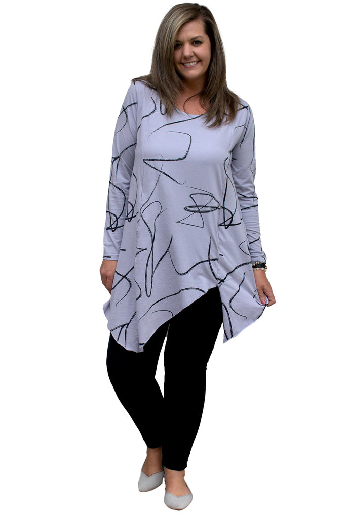 Gracie Tunic - Cloud Ribbon Dance by Snapdragon & Twig
