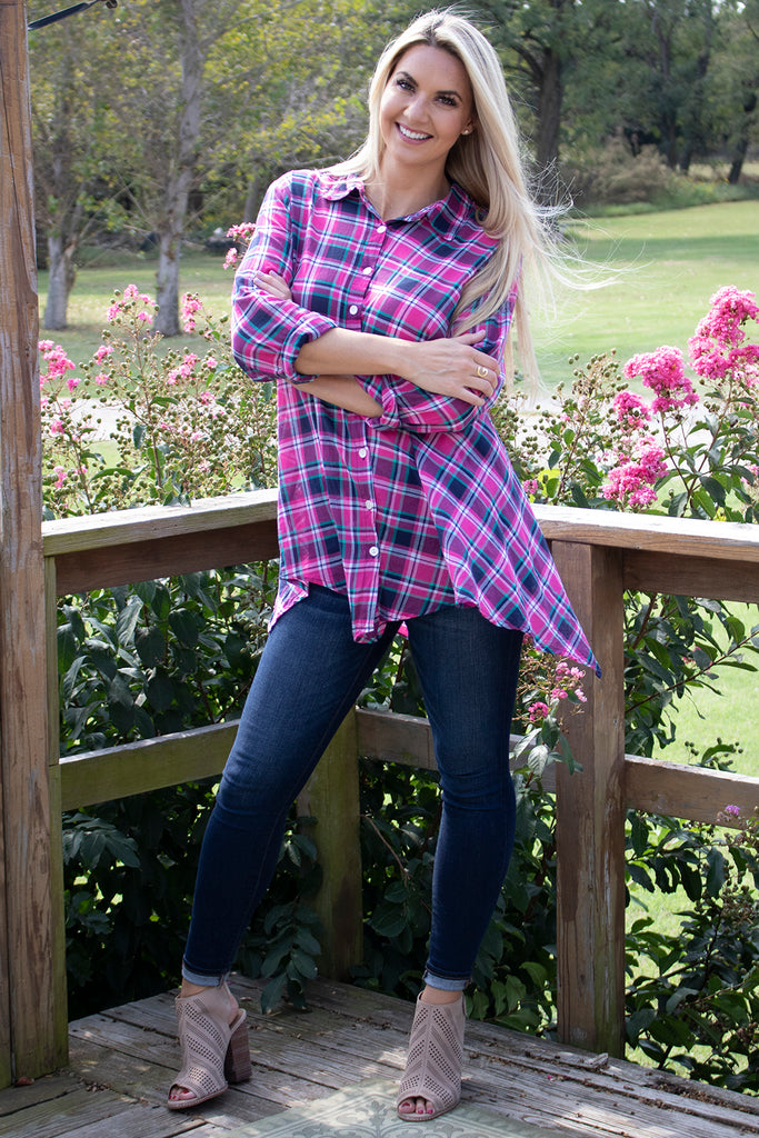 Hannah Shirt - Azalea by Tulip Clothing