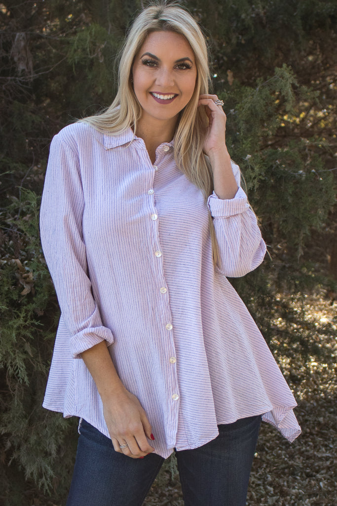 Hannah Shirt - Jackson Stripe by Tulip Clothing
