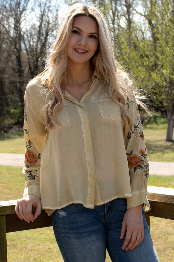Kate Blouse - Light Chartreuse by Aratta, Clothing Type - Tops & Blouses, Aratta- Apparel Garden