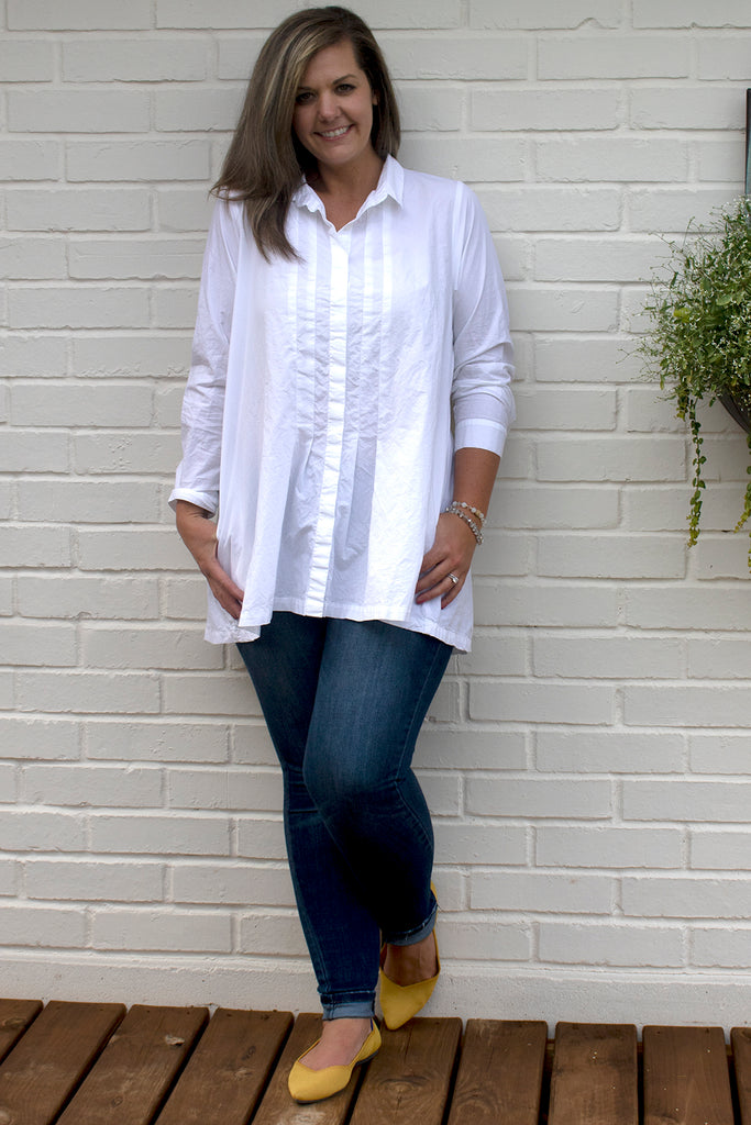 Katy Blouse - White by Tulip Clothing