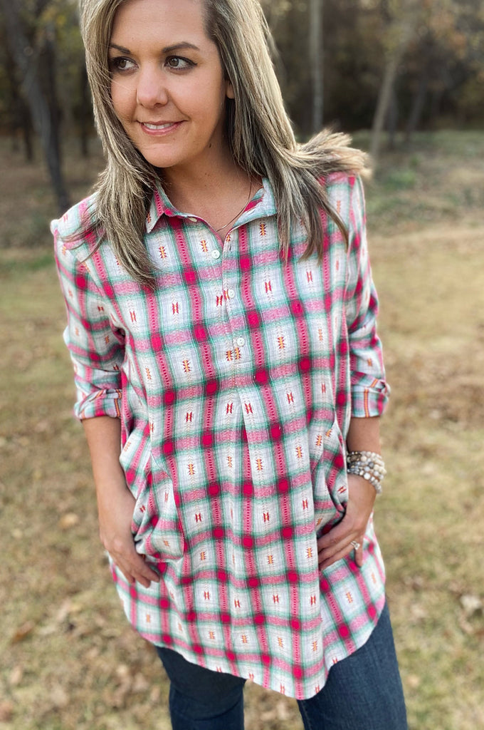 Lilly Tunic - Hot for Pink by Apparel Garden