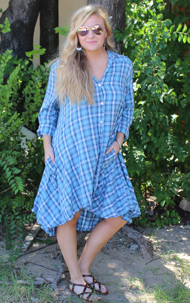 Lulu Shirt Dress - Lancer by Tulip Clothing