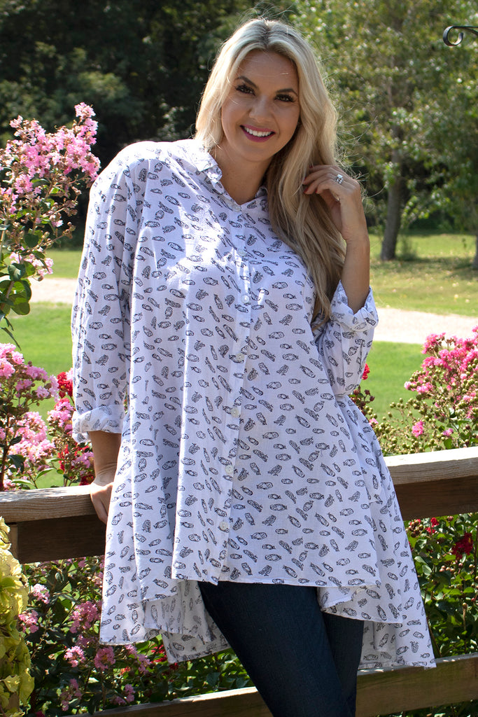 Lulu Shirt Dress - Owl by Tulip Clothing
