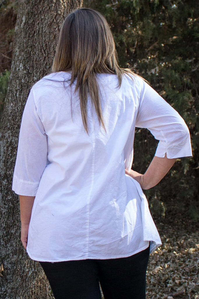 Pippa Tunic - White by Tulip Clothing