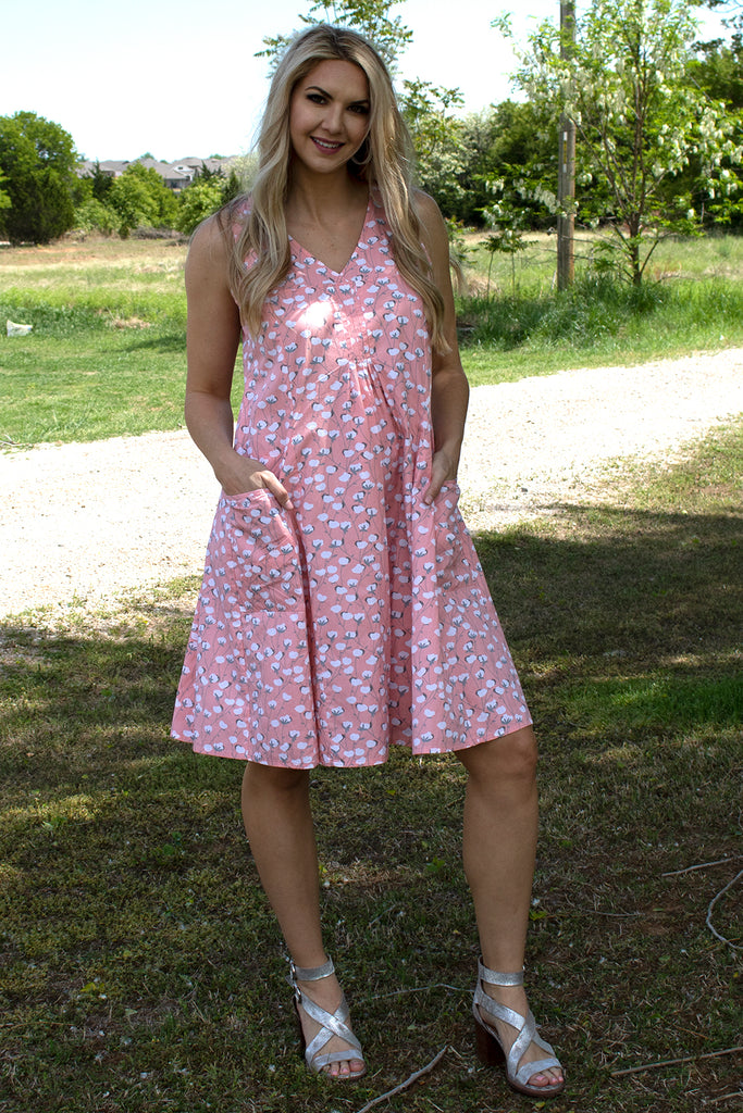 Poppie Dress - Peach Cottonseed by Tulip Clothing, Clothing Type - Dresses, Tulip Clothing- Apparel Garden
