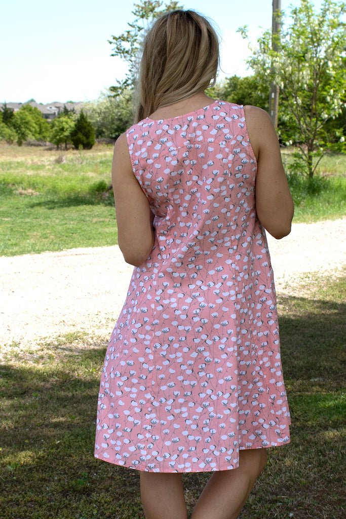 Poppie Dress - Peach Cottonseed by Tulip Clothing