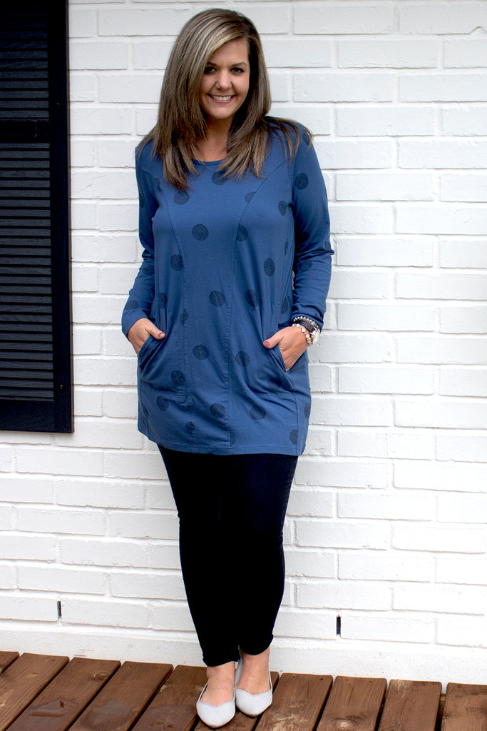 Sienna Tunic - Blue Thumbprint by Tulip Clothing
