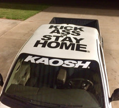 "37"" Curved White Die Cut KAOSH® Windshield Vinyl Transfer Graphic"