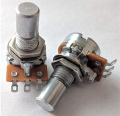 """B"" Taper 12mm Solder-Lug Potentiometers"
