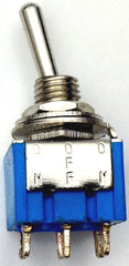 Mini Toggle DPDT Solder Lug (on-off-on)