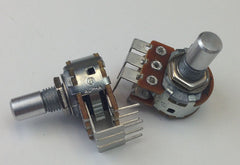 """A"" Taper 16mm Dual Gang PC-Mount Potentiometer"