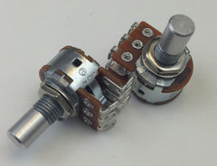 """C"" Taper 16mm Dual Gang Solder-Lug Potentiometer"