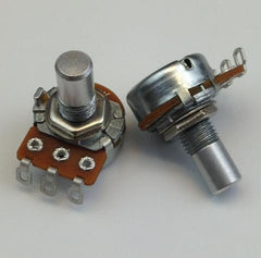 """B"" Taper 16mm Solder-Lug Potentiometers"