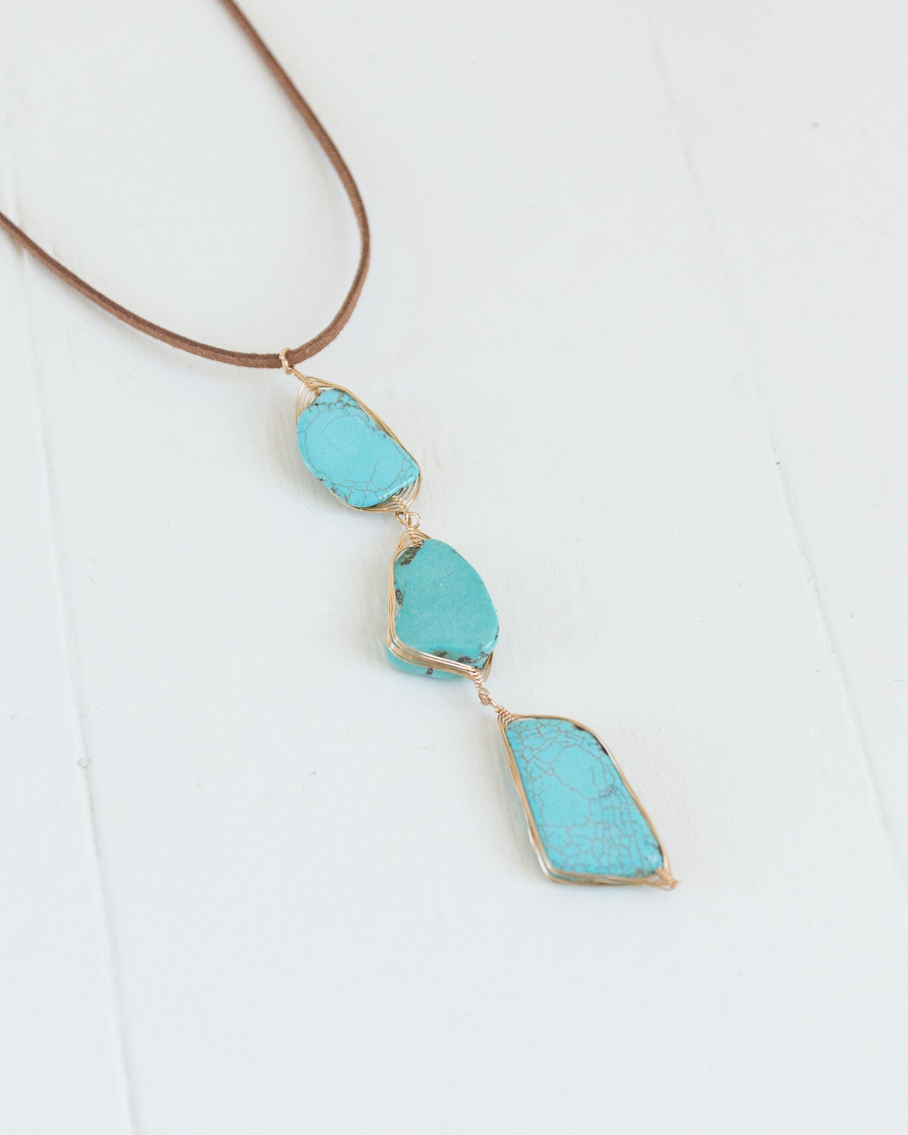 Triple Turquoise Necklace | Rose & Remington
