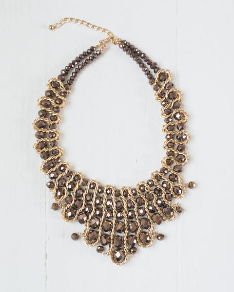 Layered Bead Statement Necklace