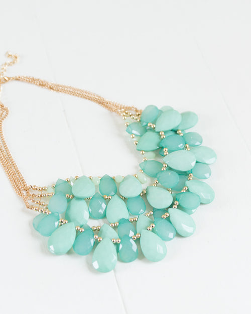Ocean Blue Statement Necklace | Rose & Remington