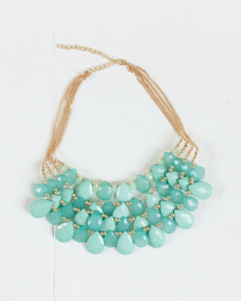 Ocean Blue Statement Necklace