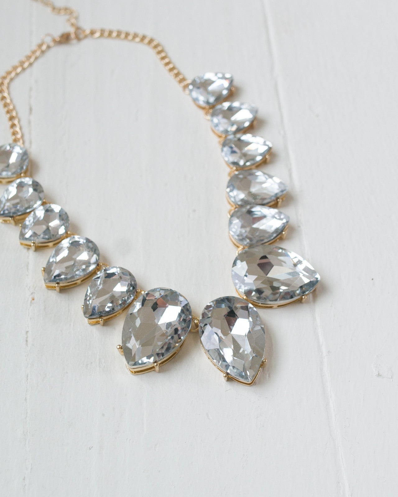 Crystal Teardrop Statement Necklace | Rose & Remington