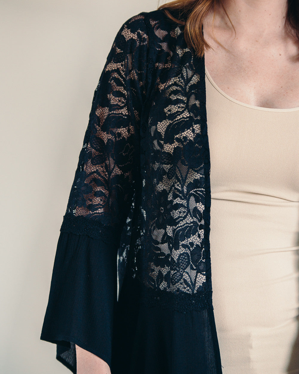 Black Lace Kimono | Rose & Remington