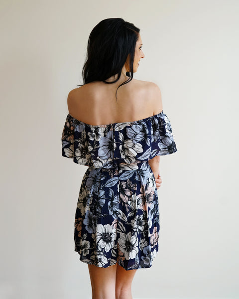 Serenity Floral Off the Shoulder Romper