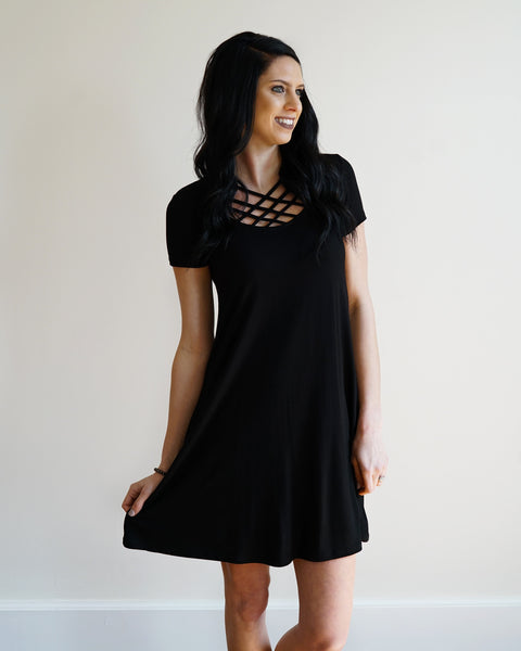 Criss Cross Casual Dress