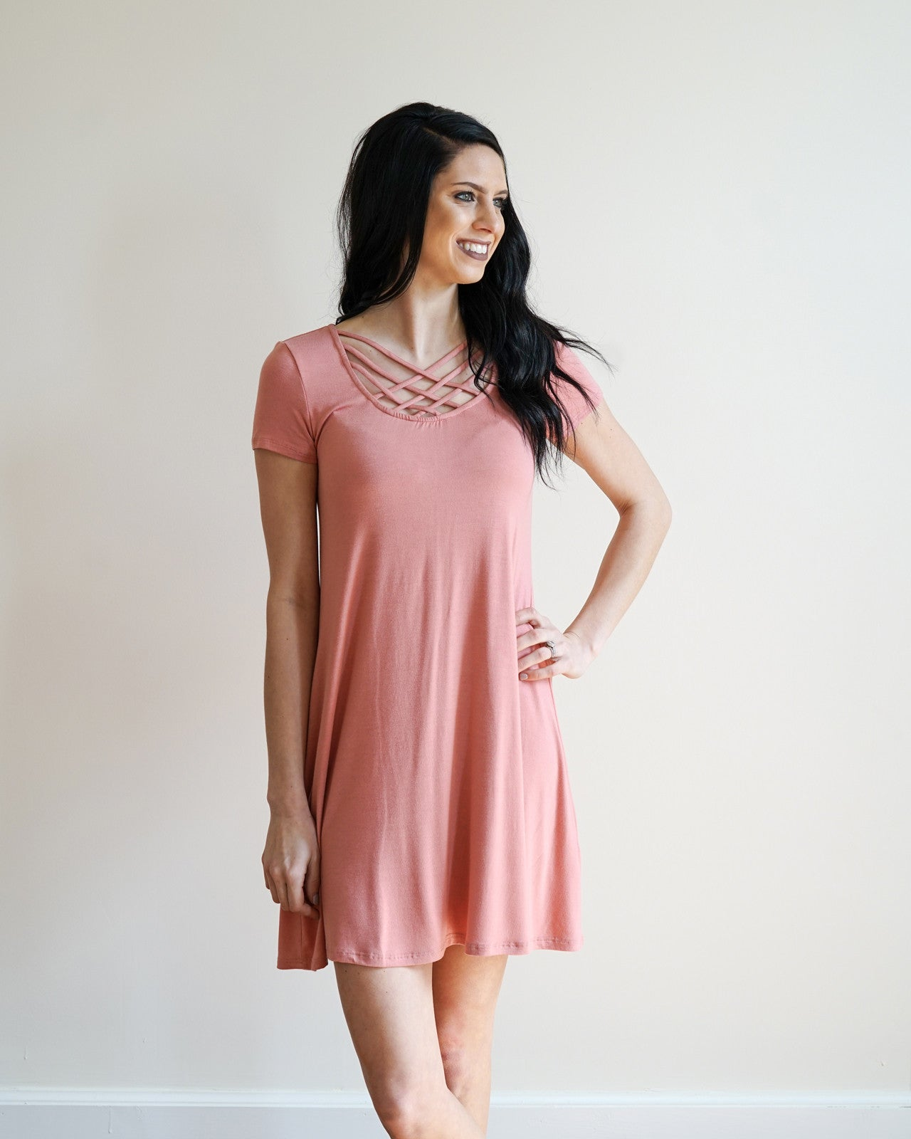 Criss Cross Casual Dress | Rose & Remington