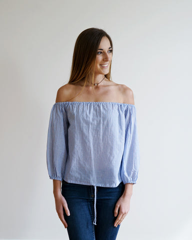 Skye Striped Off the Shoulder Top
