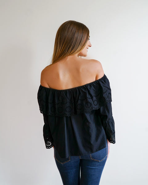 Flounce Off the Shoulder Top