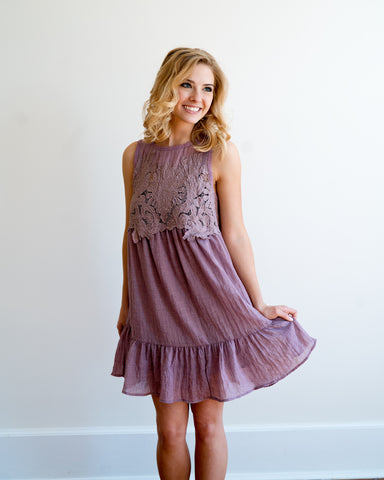 Lovely Lilac Sleeveless Dress