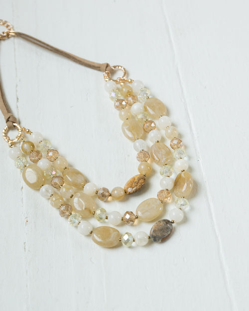 Amber Layered Beads Necklace | Rose & Remington