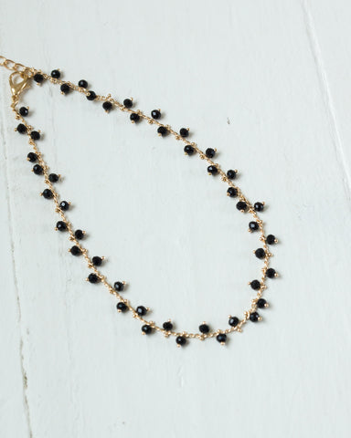Tiny Beaded Gold Choker