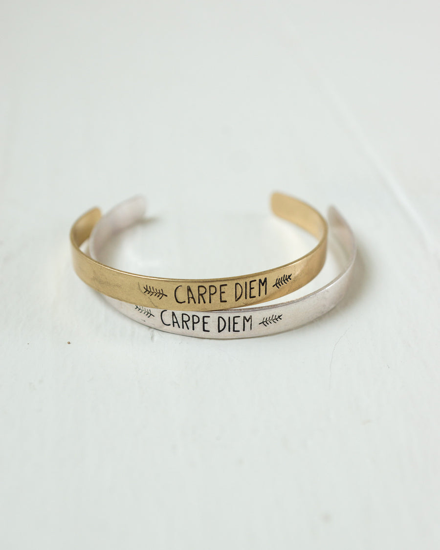 Carpe Diem Bangle | Rose & Remington