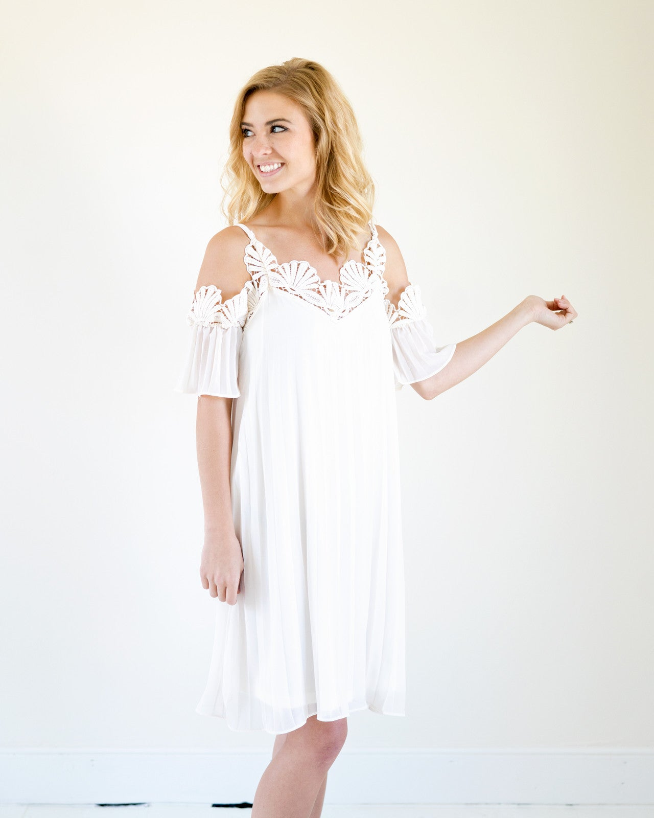 Ariel Ivory Lace Cold Should Dress | Rose & Remington