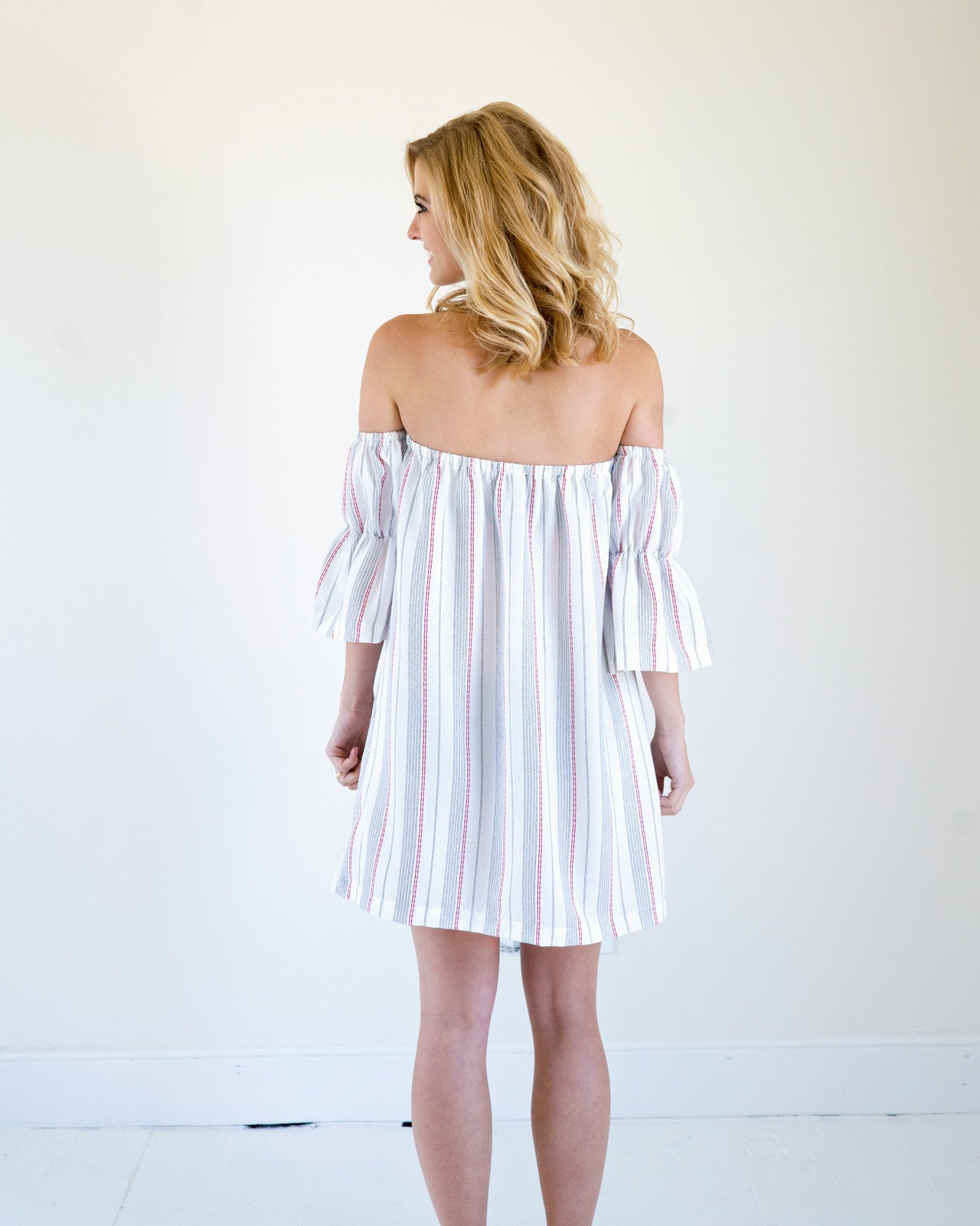 Summer Striped Midi Dress with Tassels | Rose & Remington