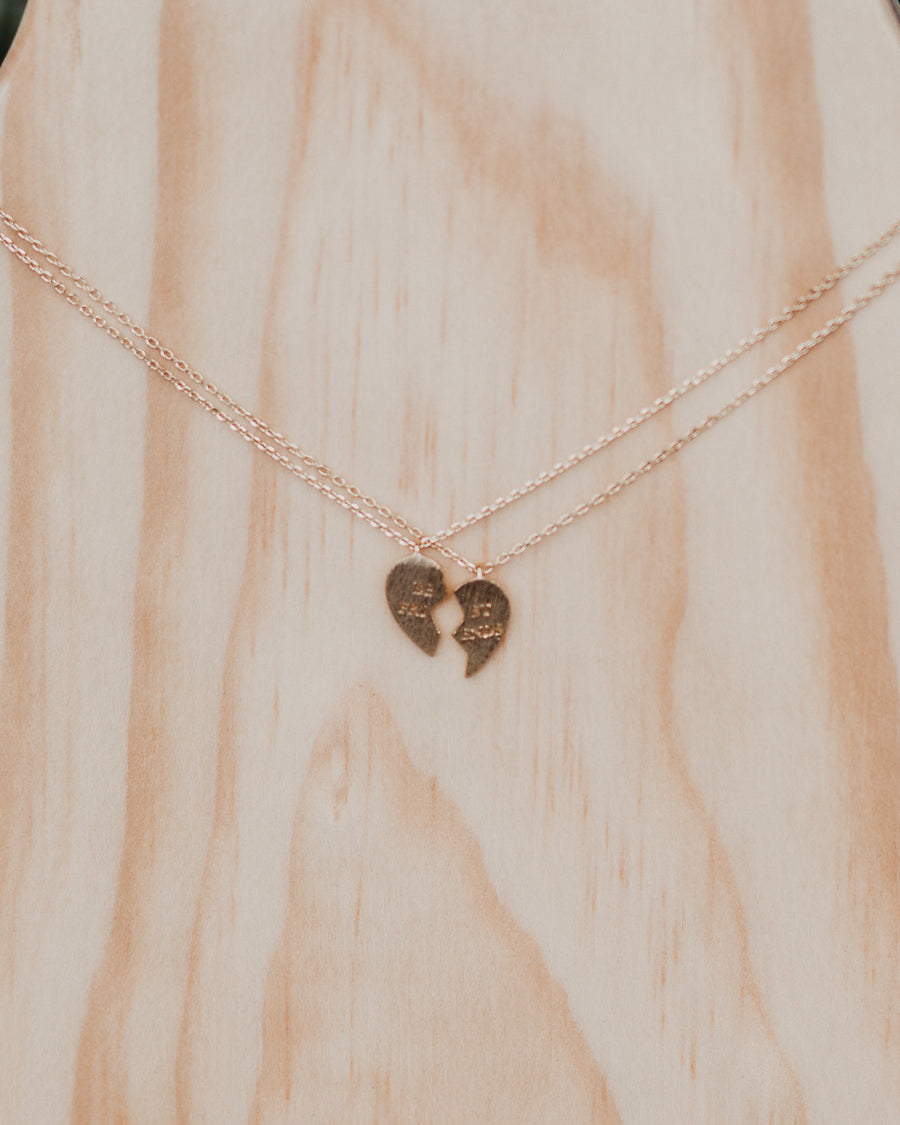 Bestfriends Heart Necklace