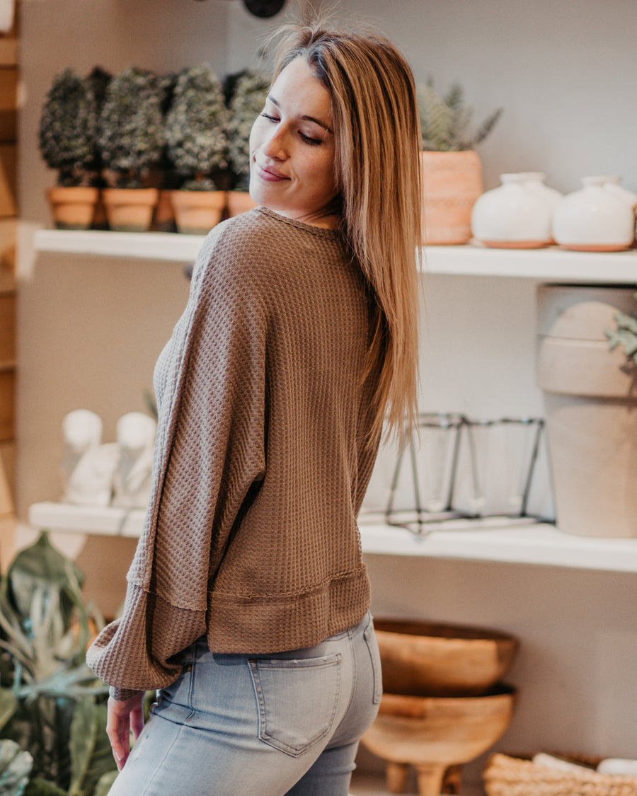 Clare Waffle Knit Top