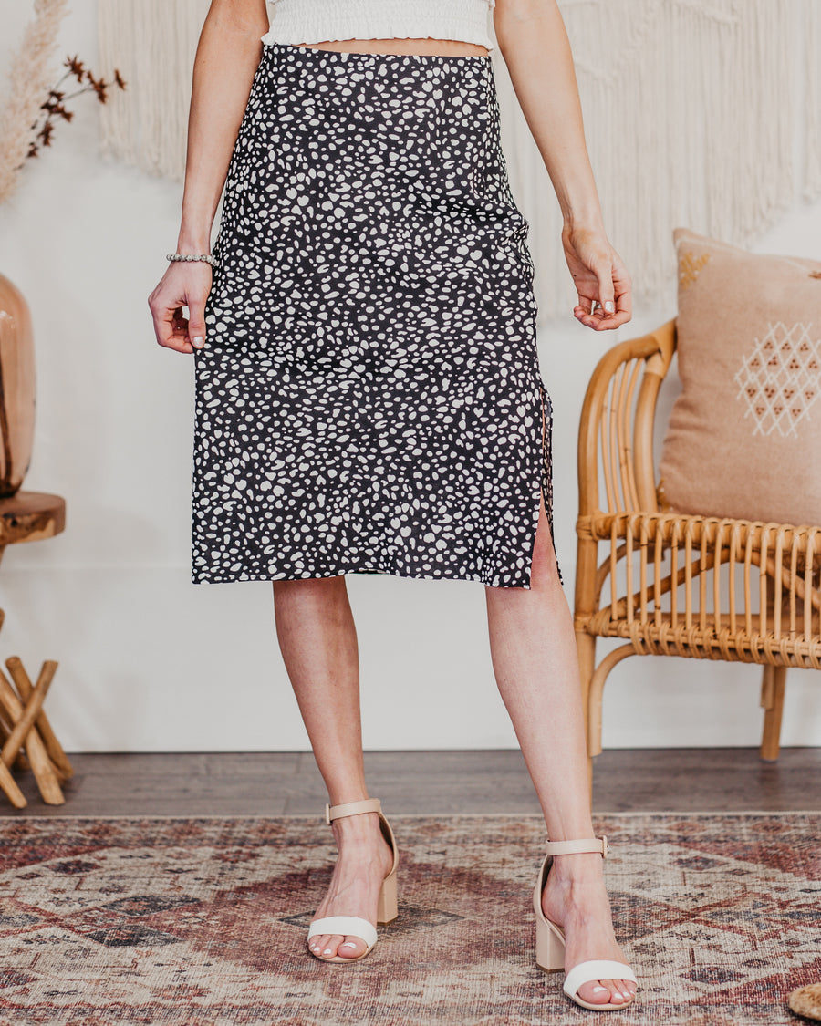 Lucy Dotted Midi Skirt