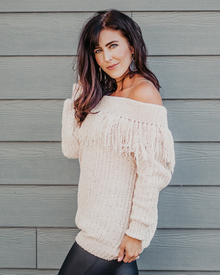 Aleah Fringe Sweater