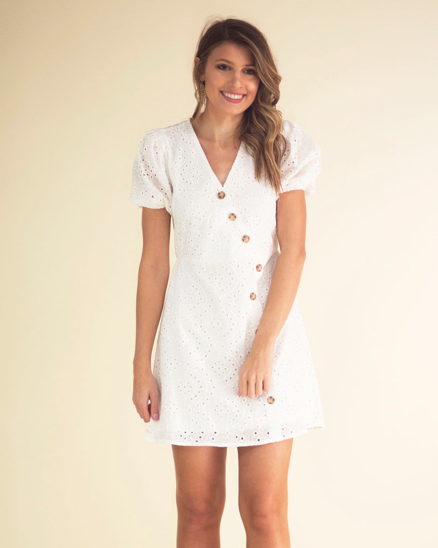 Maria Button Front Dress