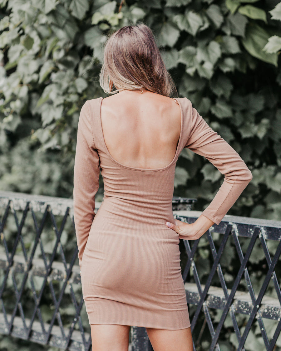 Simply Chic Open Back Dress