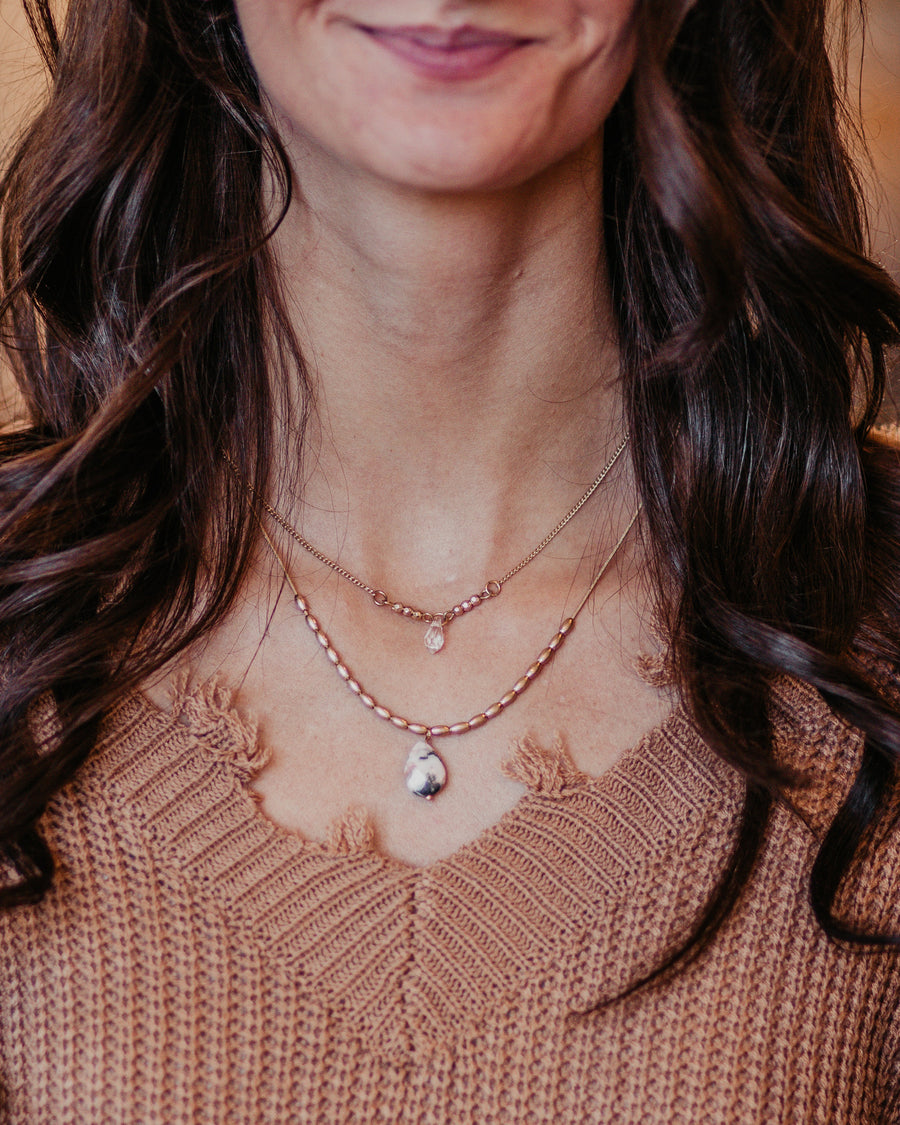 Two Layer Stone Necklace