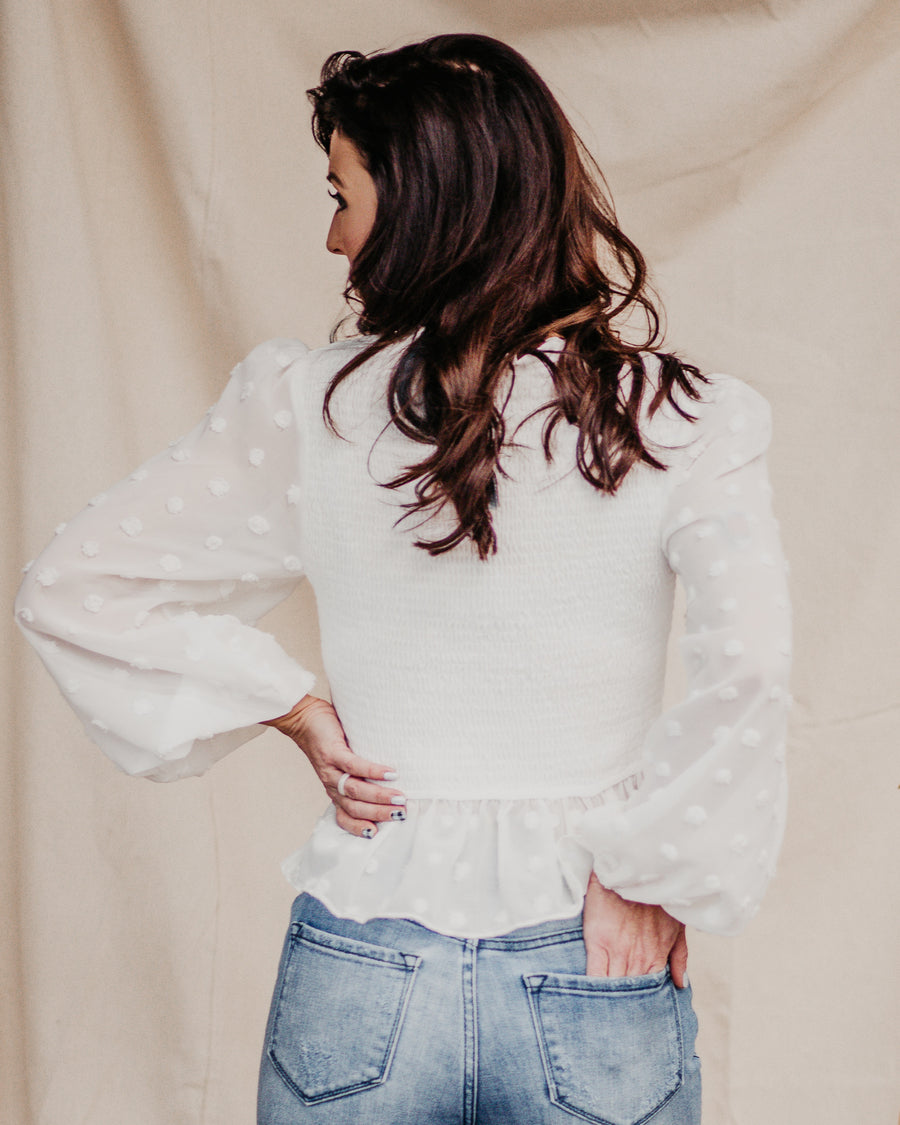 Hazel Smocked Peplum Top
