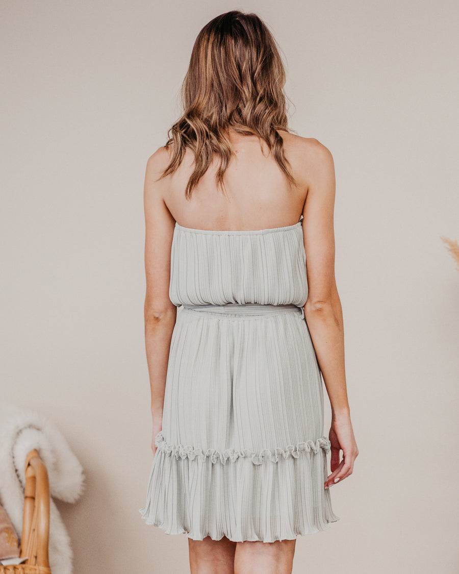 Get My Attention Strapless Dress