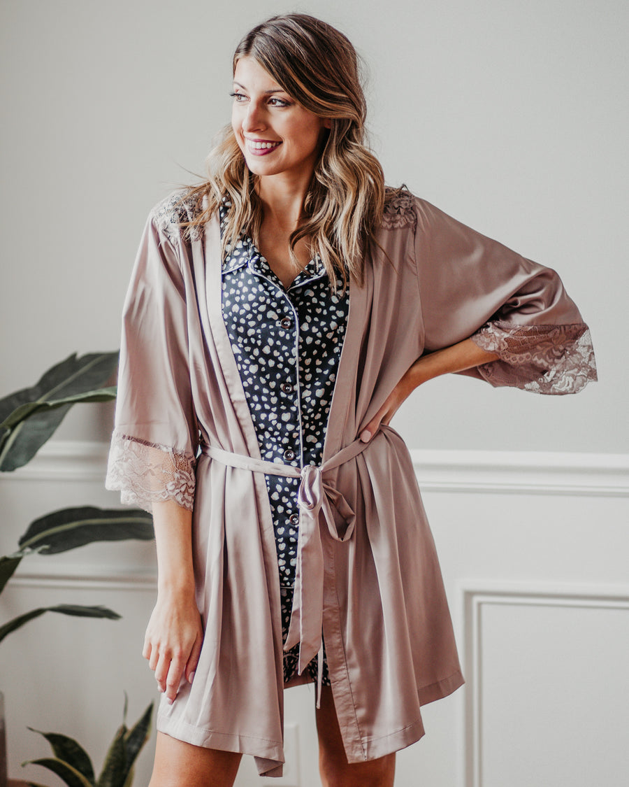 Madelyn Lace Trim Robe