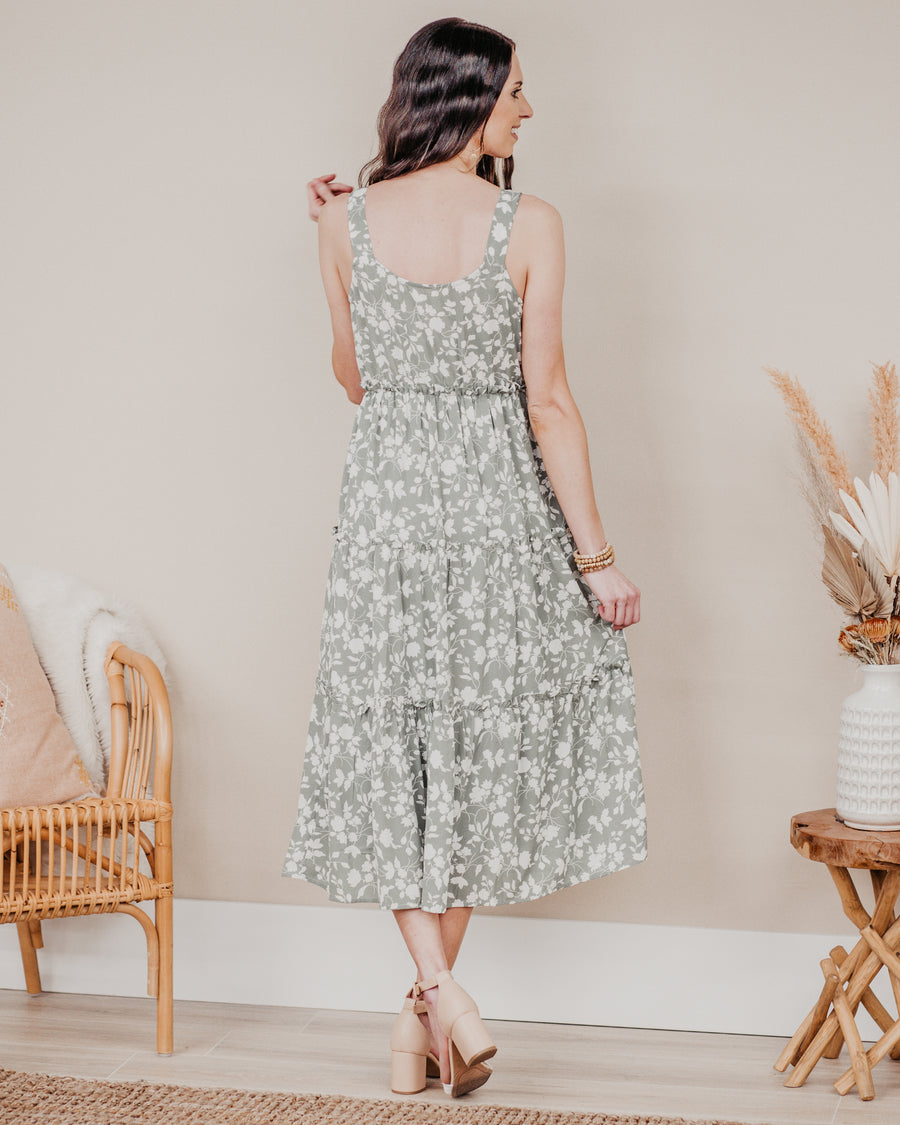 Walking on Florals Midi Dress