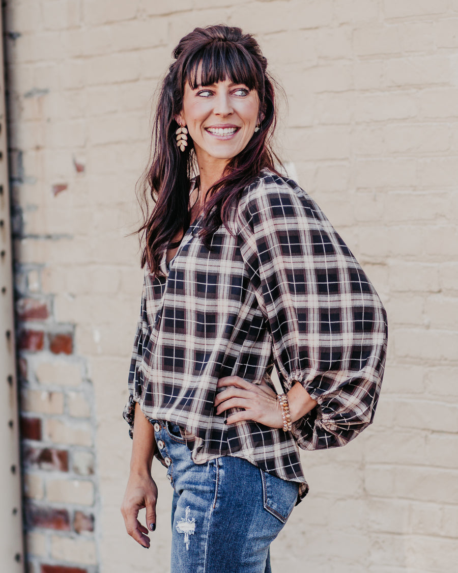 Alexis Plaid Top