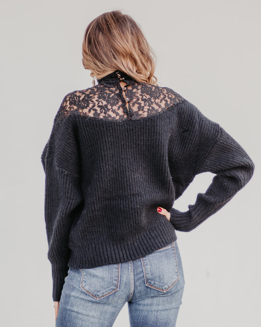 Rory Lace Turtleneck Sweater